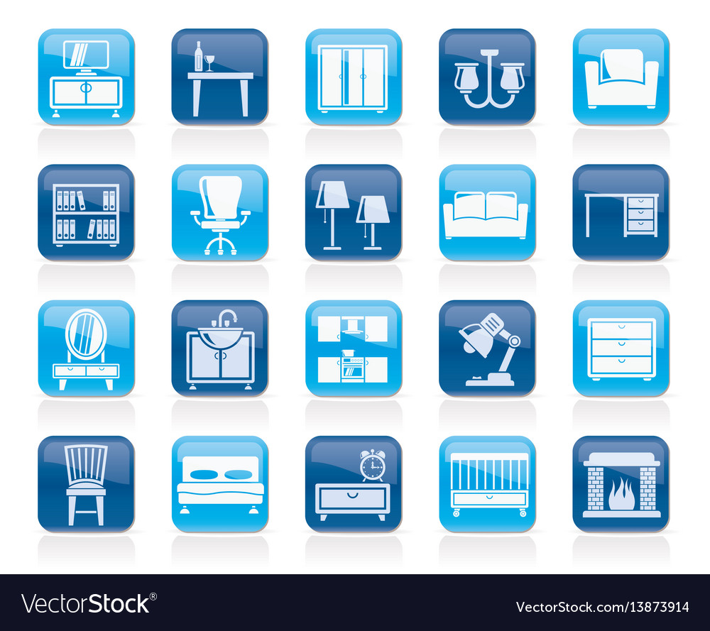 Furniture and home equipment icons