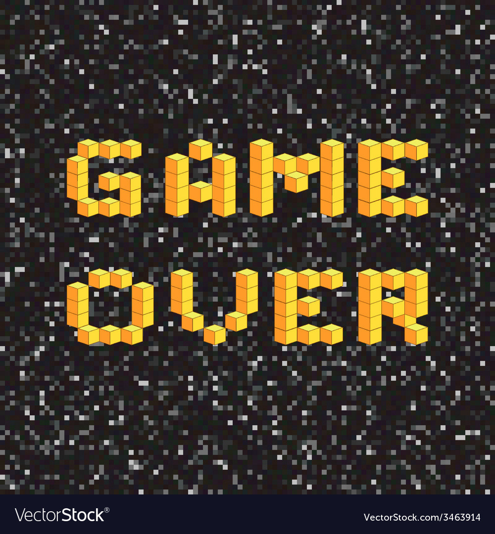 Game over screen old school gaming poster failure