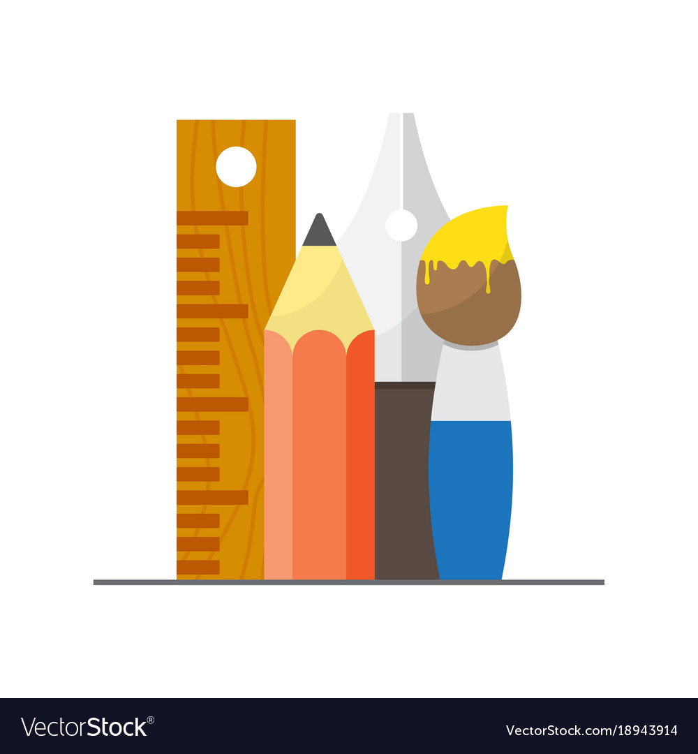 Set Of Graphic Designer Items And Tools Vector Image