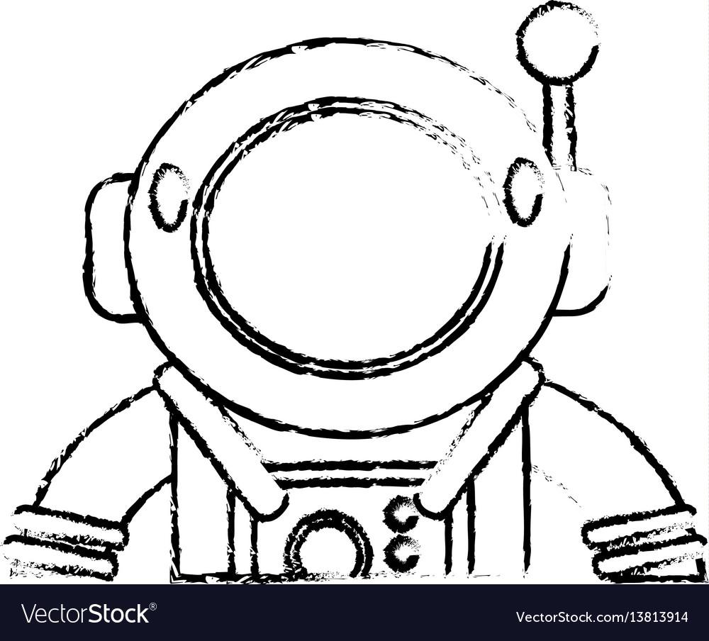 Suit space astronaut sketch
