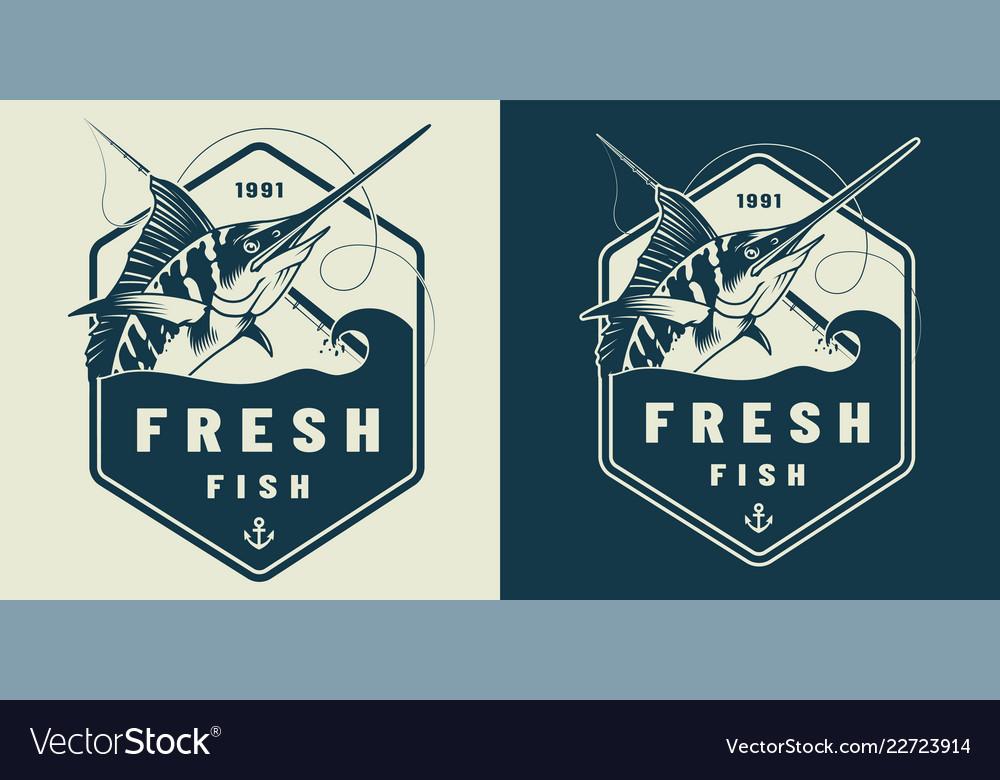 Vintage marine label template