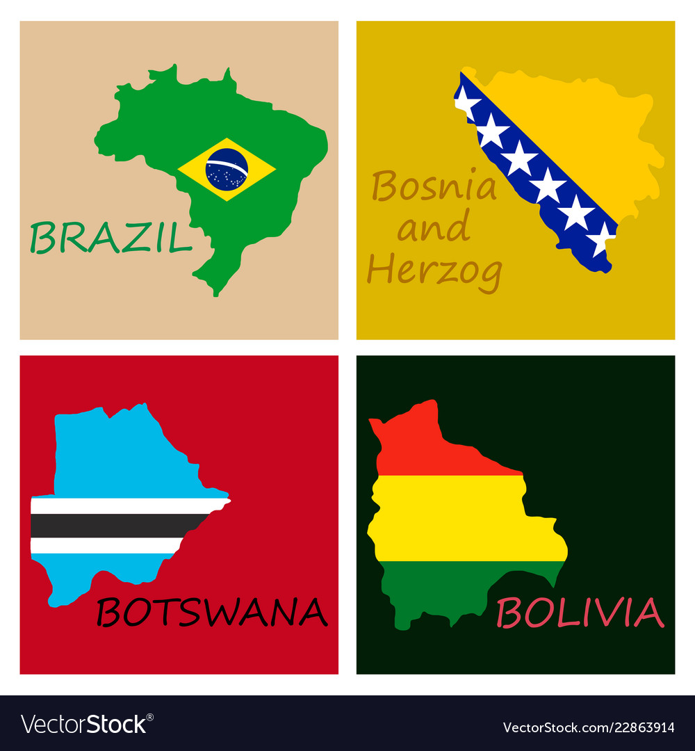 World map-countries in color on white background vector image on VectorStock