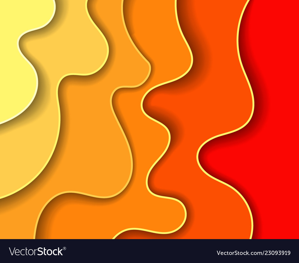 Abstract paper carve backgroundpaper art style of