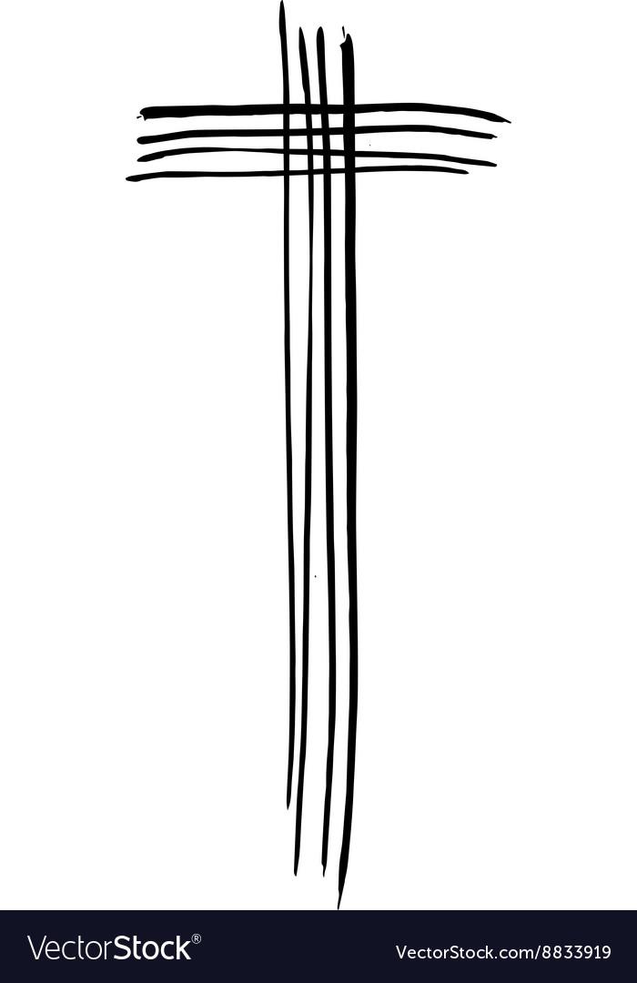 Christian cross grunge religion symbol