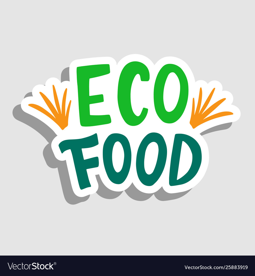 Eco food sticker sign badge