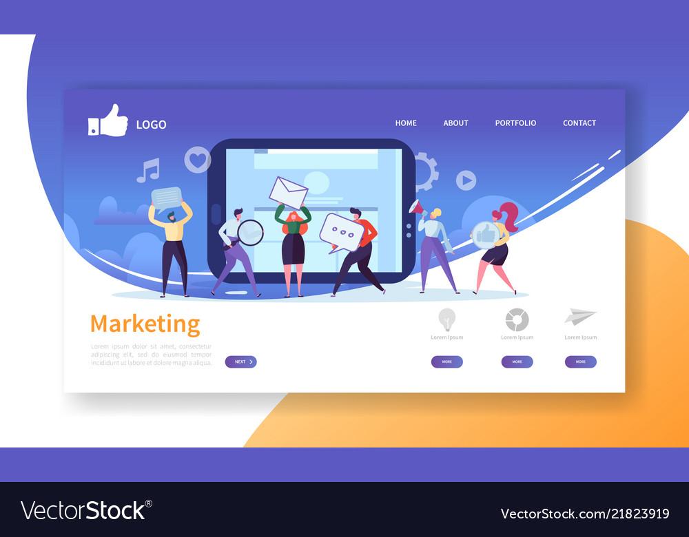 Social marketing landing page template website