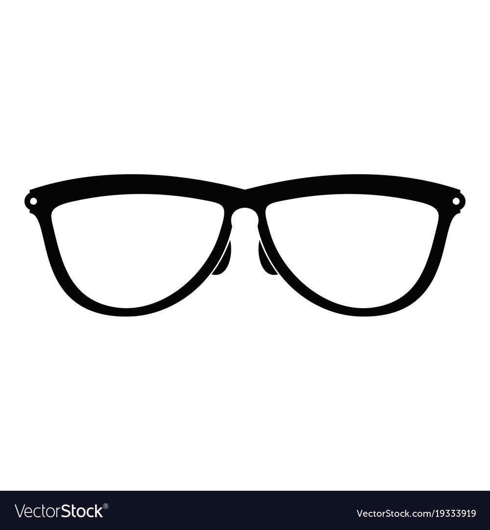 538b712bd1 Stylish eyeglasses icon simple style Royalty Free Vector