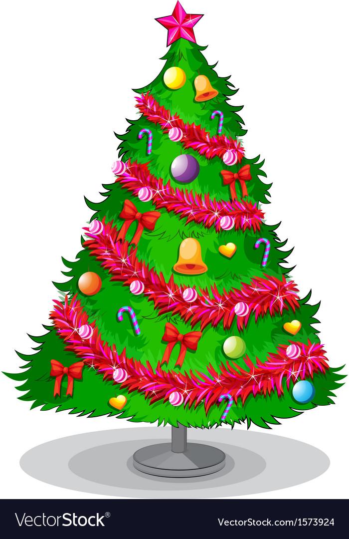 Colorful Christmas Tree Vector.A Colorful Christmas Tree