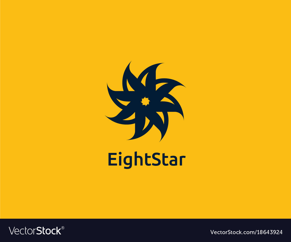 Abstract circle star logo design concept vector image