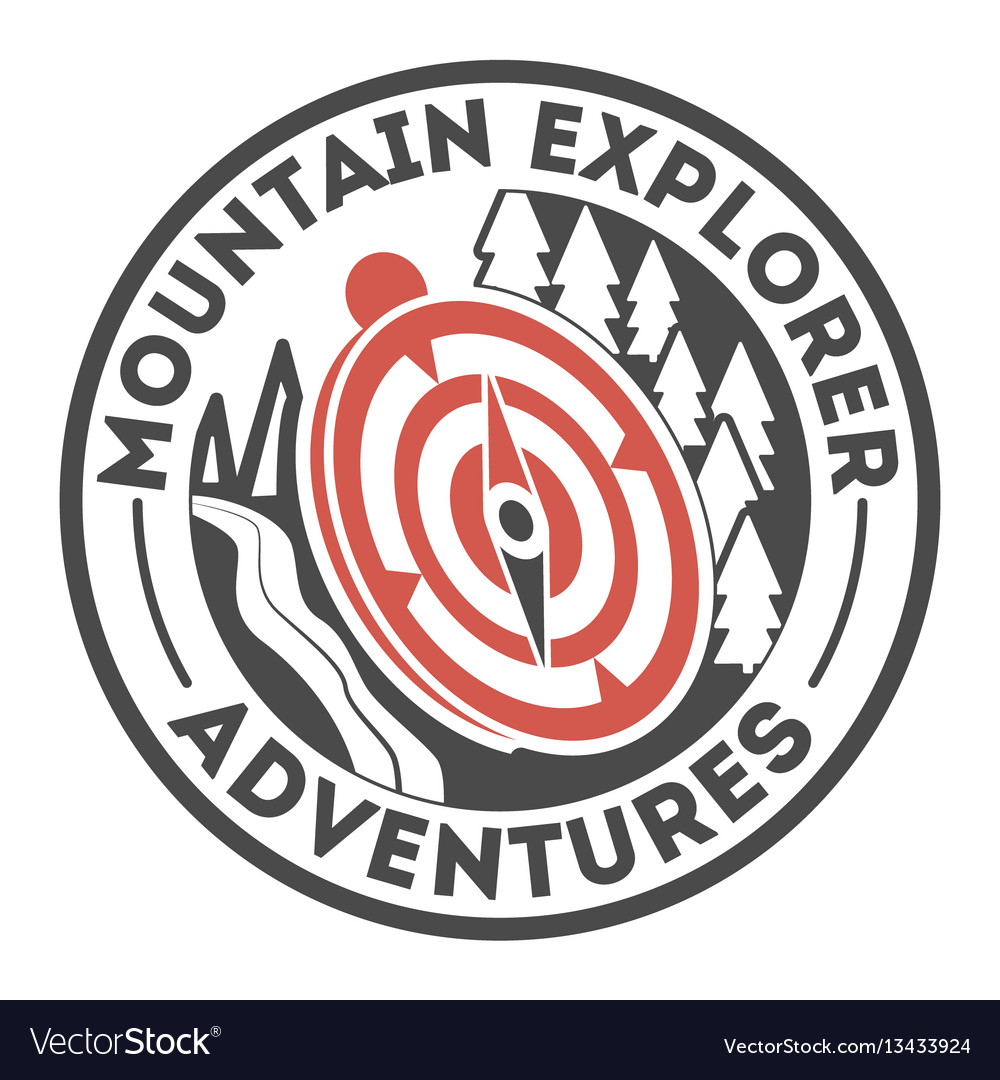 Adventure outdoor vintage isolated label vector image