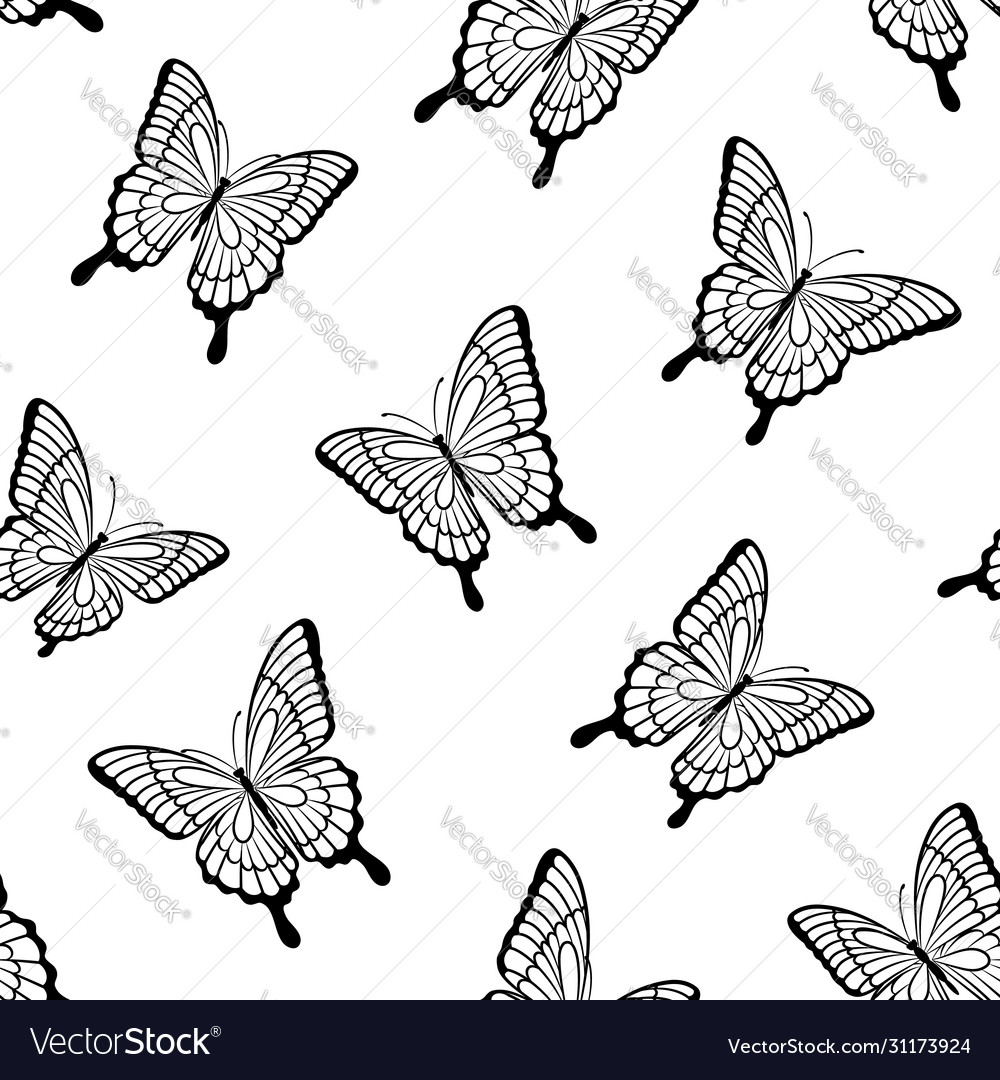 Beautiful seamless background butterflies