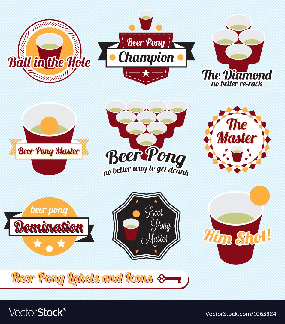 Beer Pong Labels