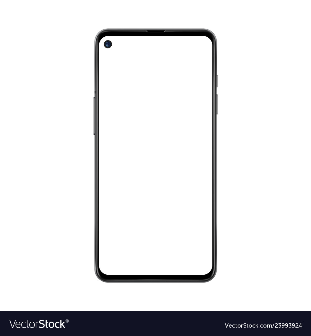 Black realistic and trendy no frame smartphone