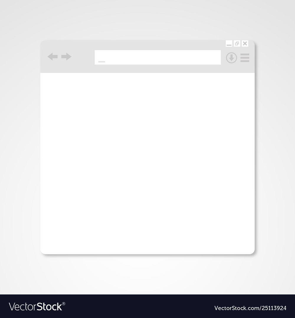 Browser window internet document mockup website