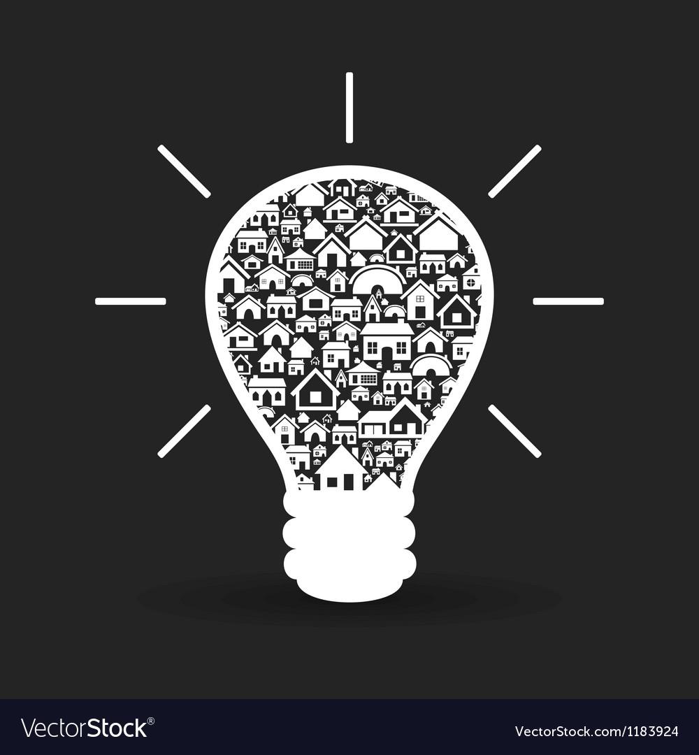House a bulb vector image