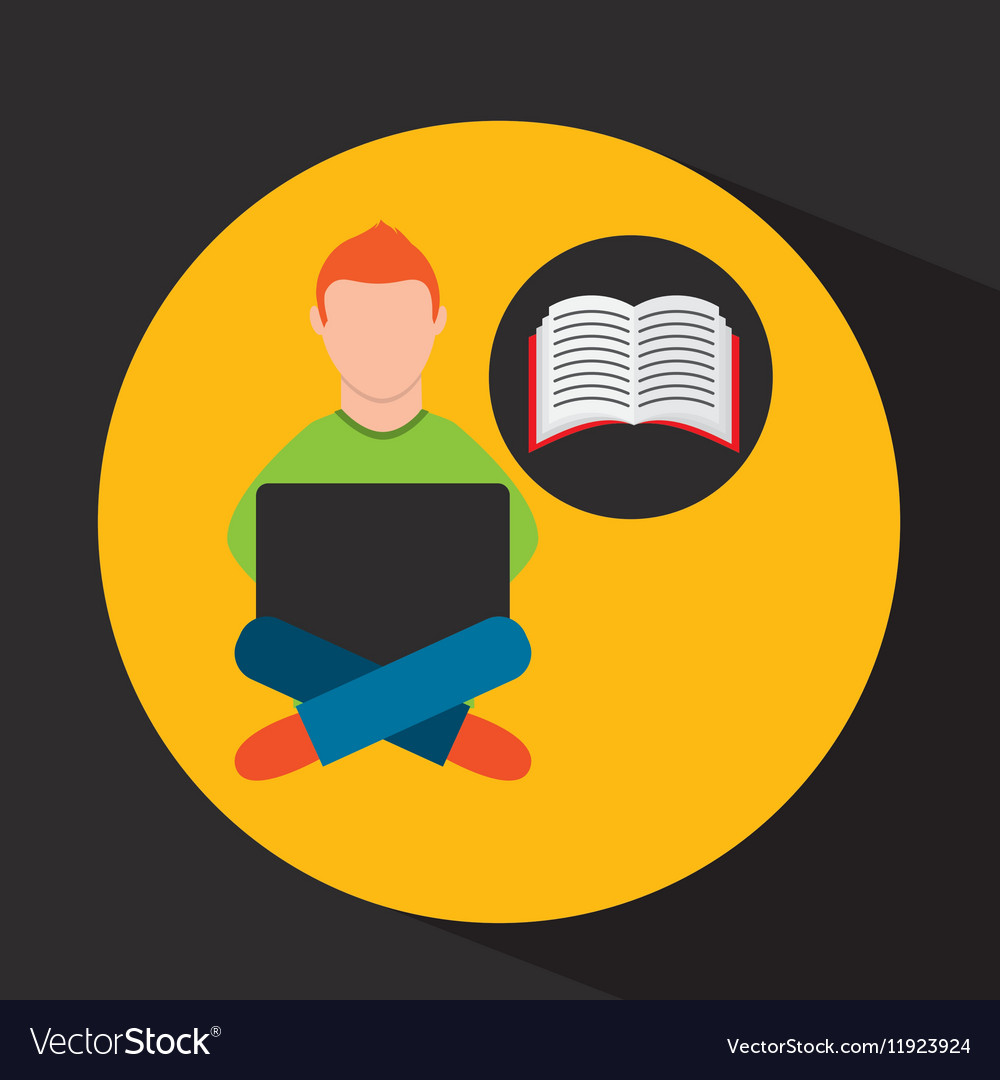 Online training education-student e-learning vector image