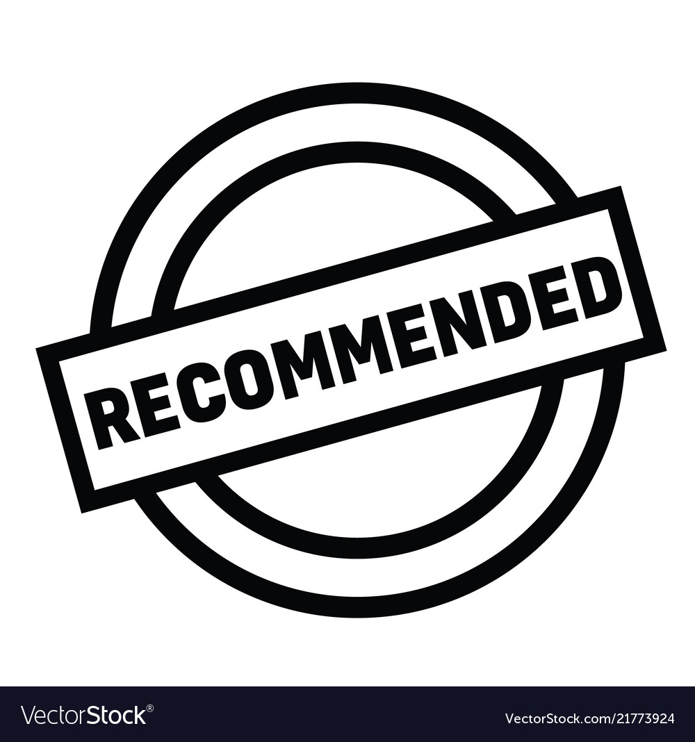Recommended rubber stamp vector image on VectorStock