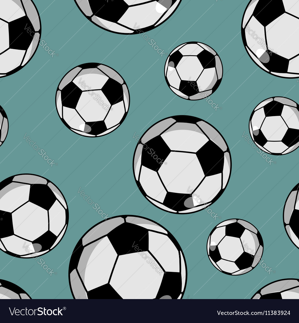 Soccer ball seamless pattern Sports accessory
