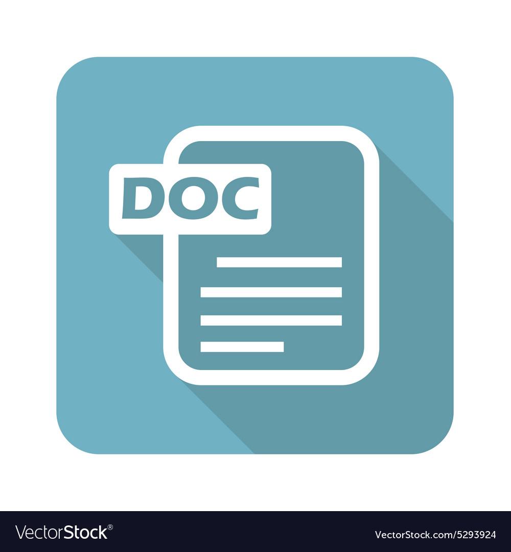 Square DOC file icon