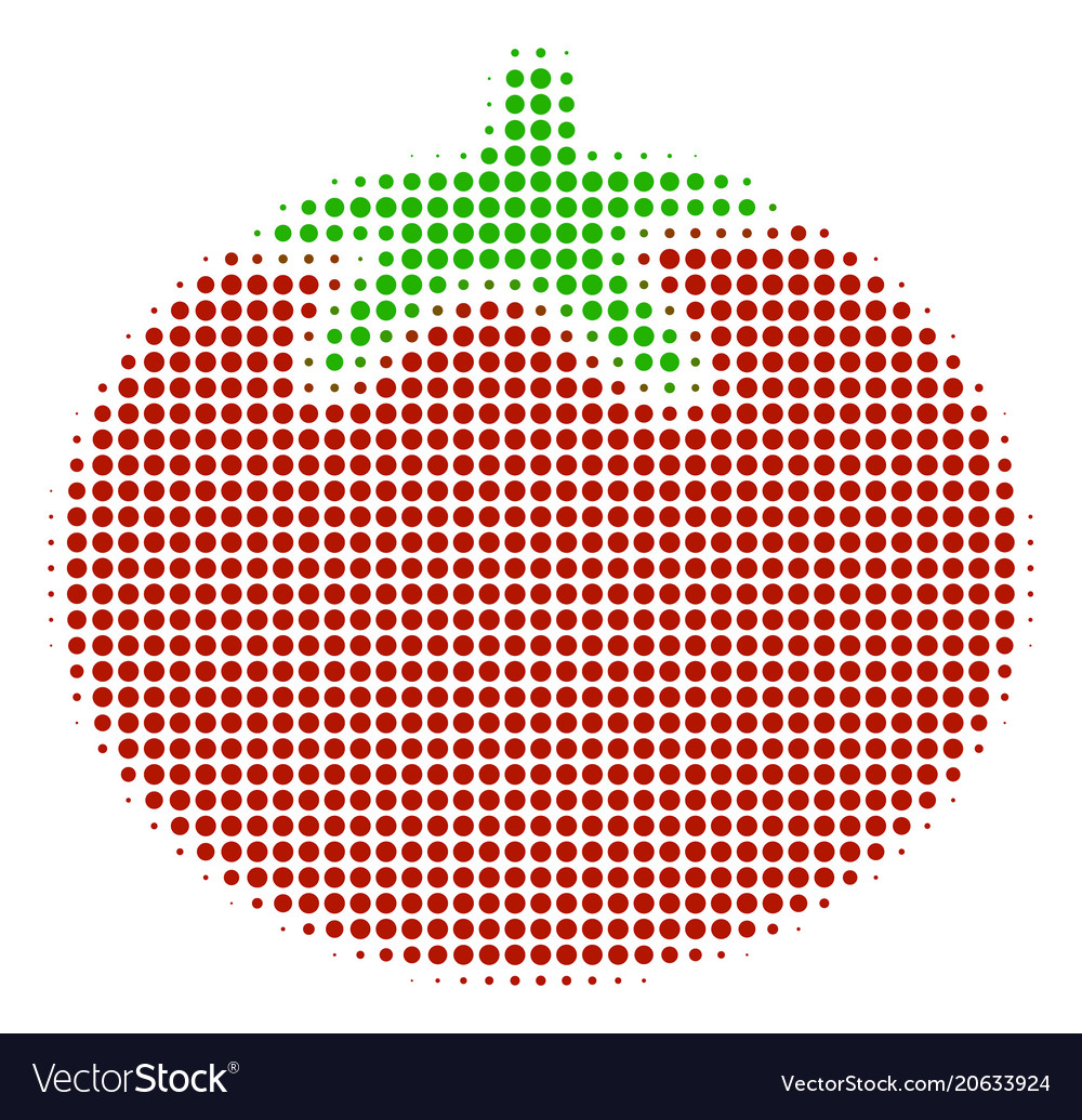Tomato vegetable halftone icon