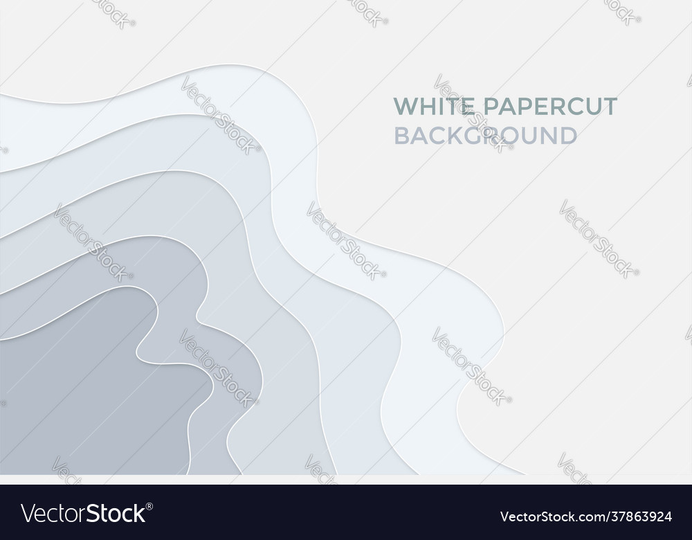 White papercut abstract background