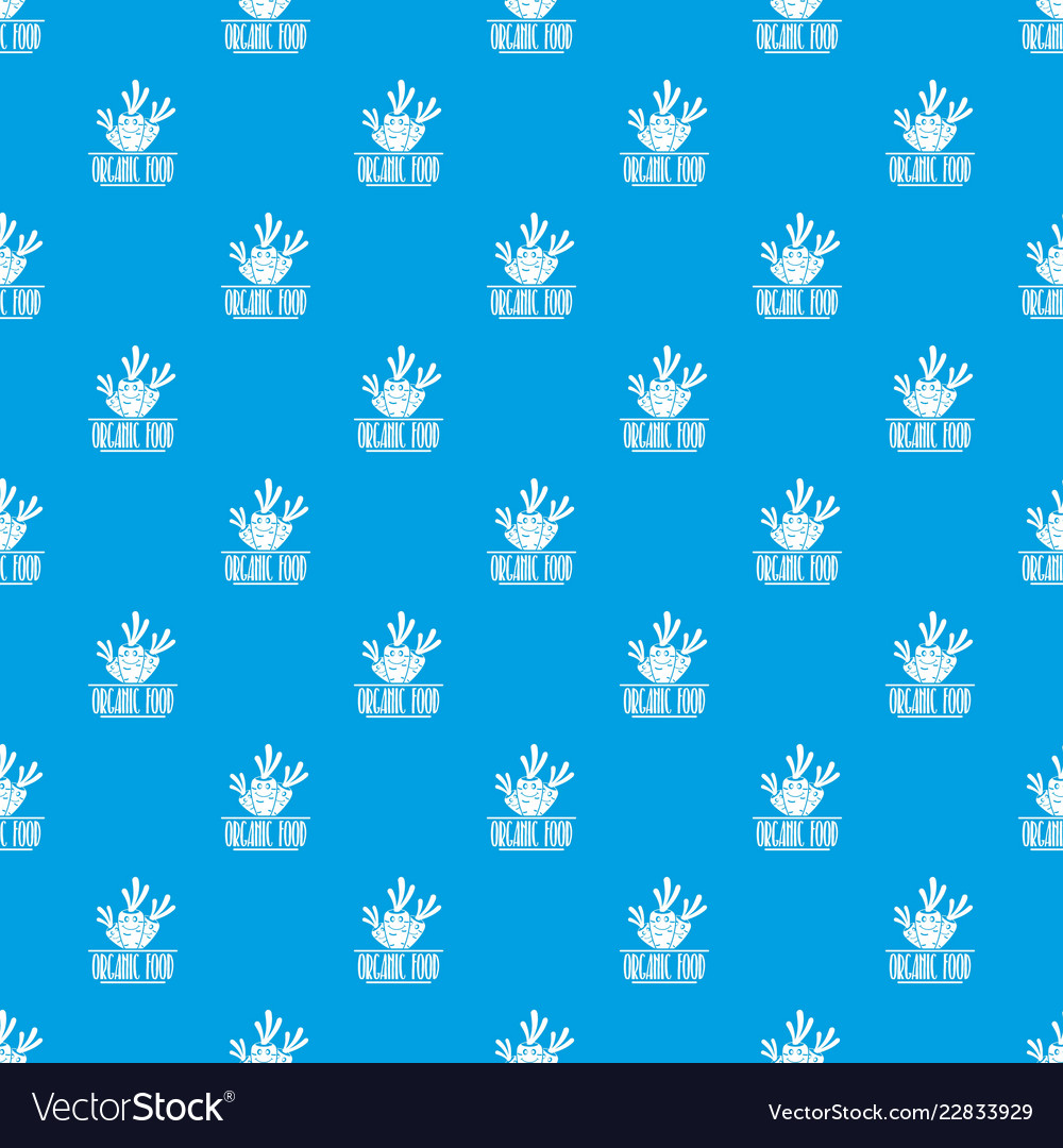 Carrot pattern seamless blue