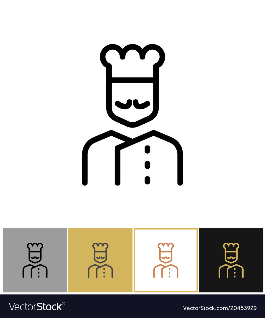 Chef icon restaurant kitchen cook sign Royalty Free Vector