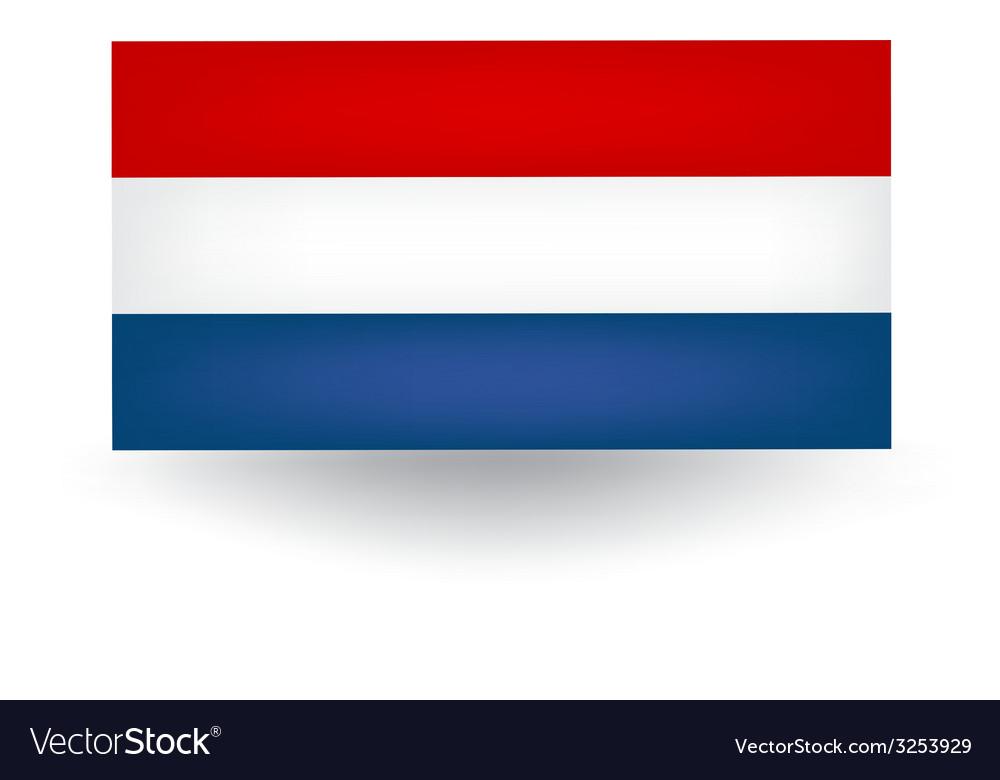 dutch flag royalty free vector image vectorstock rh vectorstock com Flag Silhouette Vector dutch flag vector free