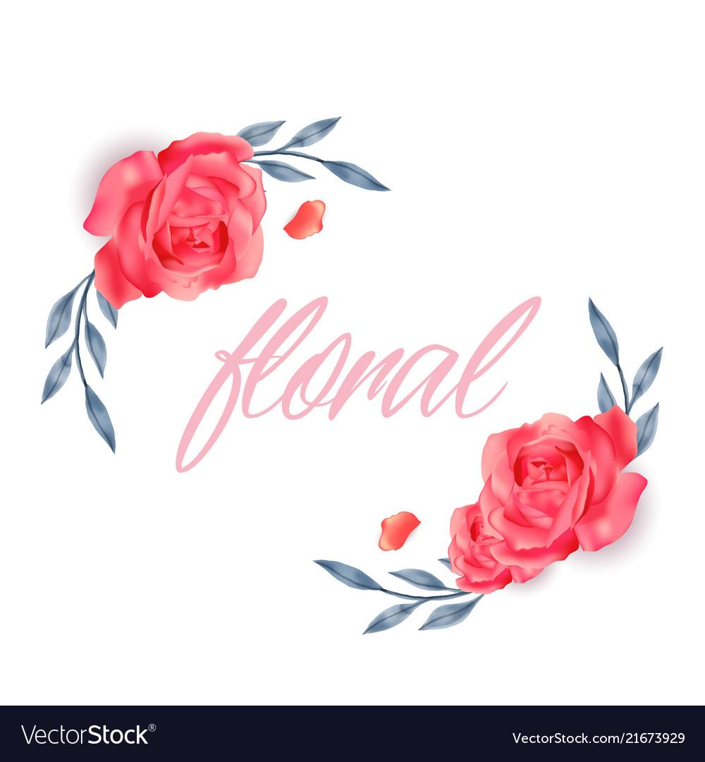 Floral red roses design white background im