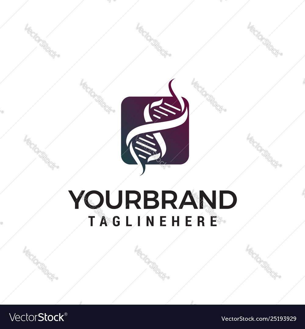 Gen dna logo design concept template