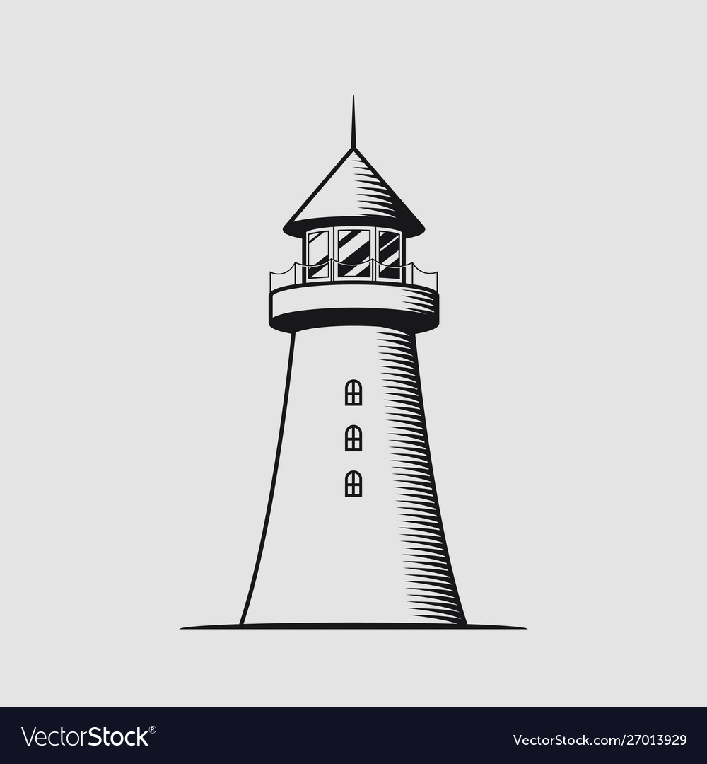 Nautical concept with lighthouse