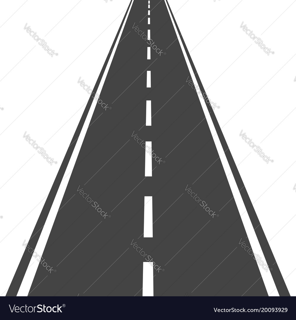 Straight road with white markings highway road Vector Image for Straight Road Vector Free Download  55dqh