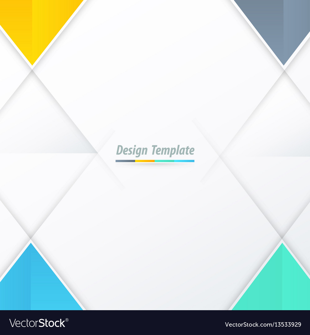 Template triangle design yellow blue green