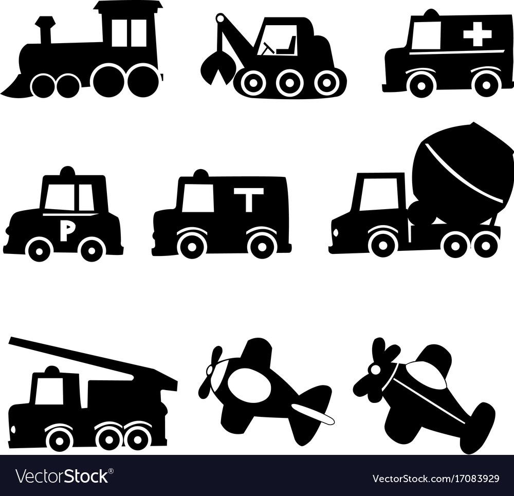 Transportation icons set eps 10 vector image