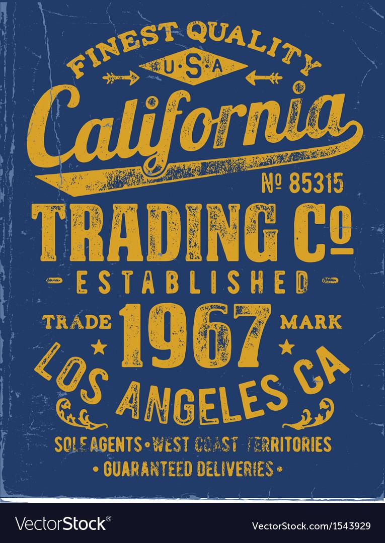 Vintage type lock-up apparel design