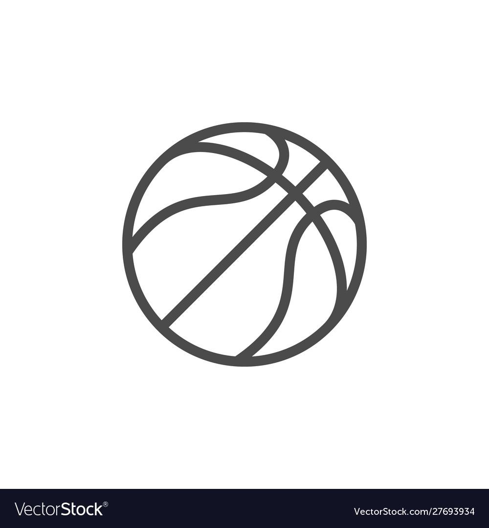 Basketball ball line outline icon