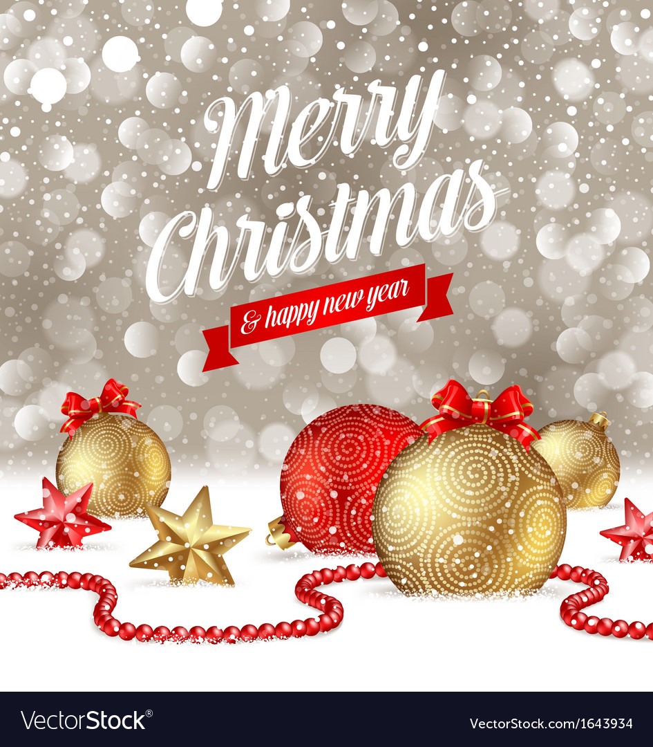 Christmas Greetings Royalty Free Vector Image Vectorstock