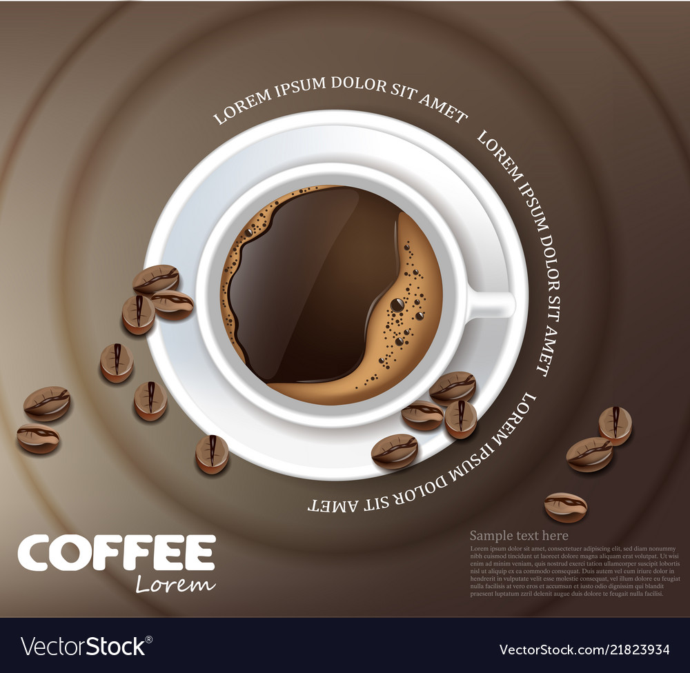 Coffee cup card realistic product