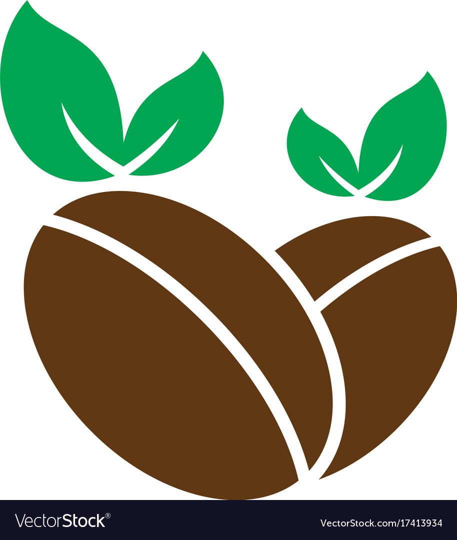Coffee Leaf Organic Logo Royalty Free Vector Image