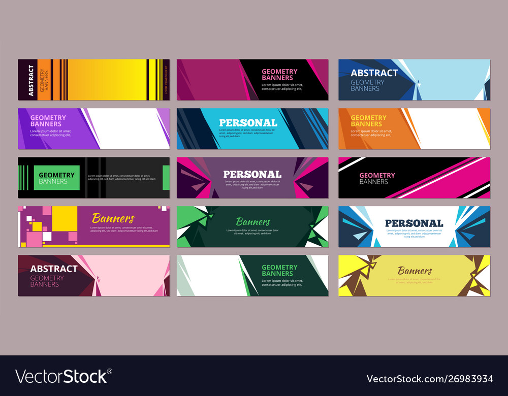 Colorful abstract banners geometric abstract