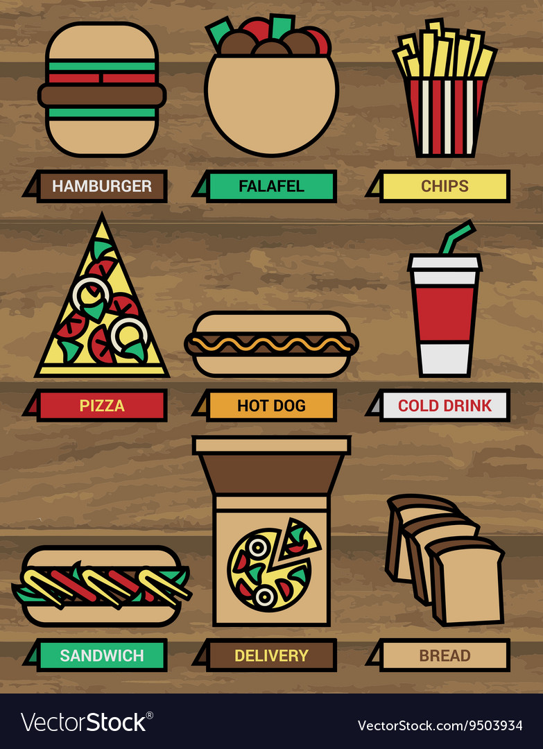 Fast food icons 380