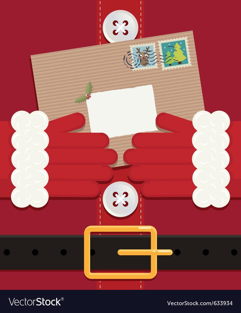 Letter for santa vector image
