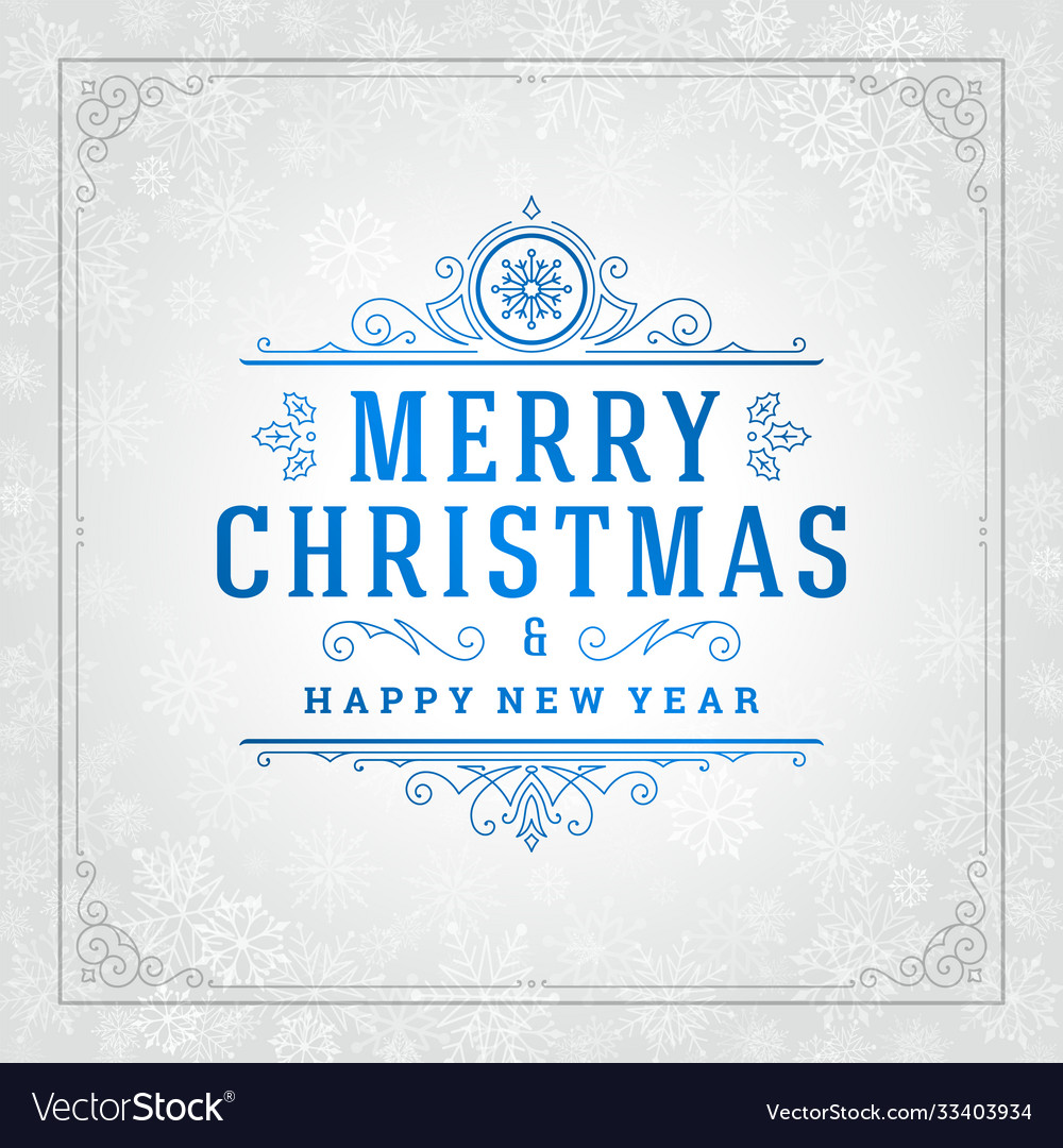 Merry christmas and new year greeting card design