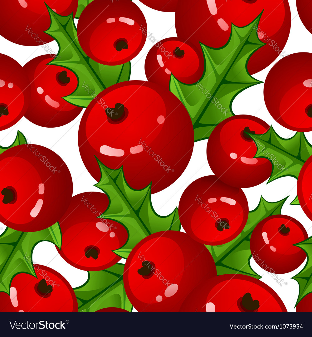 Seamless background with berries and