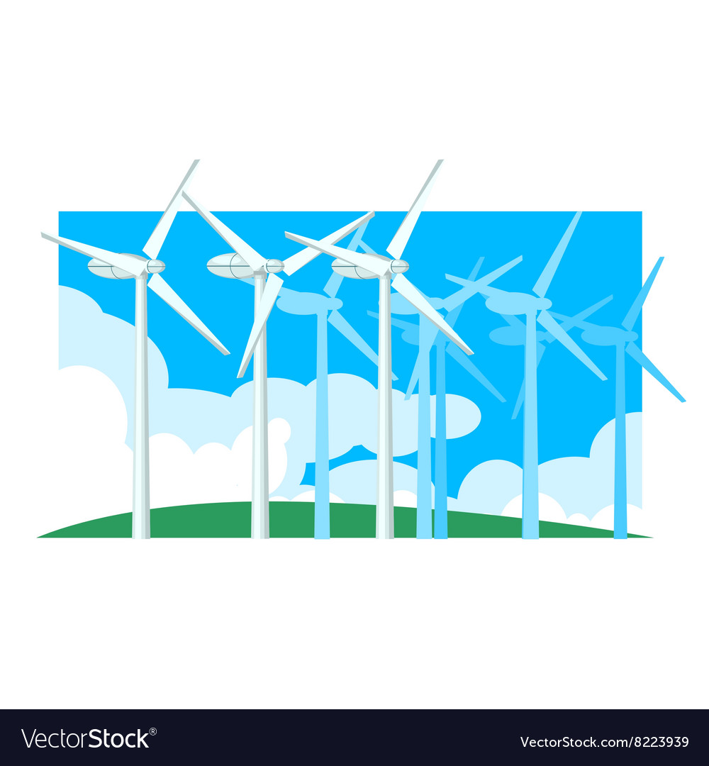 Alternative Energy Wind Power vector image