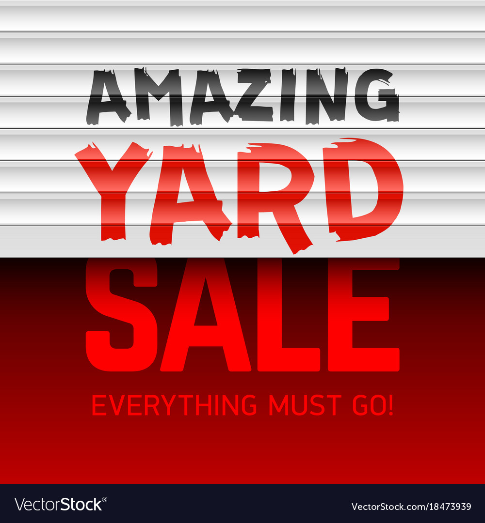Amazing yard sale poster template