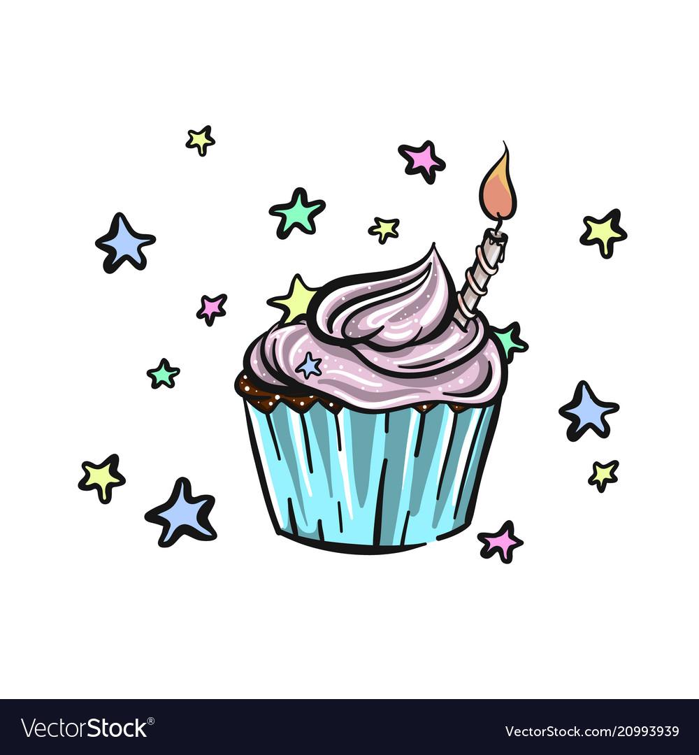 Bithday cupcake