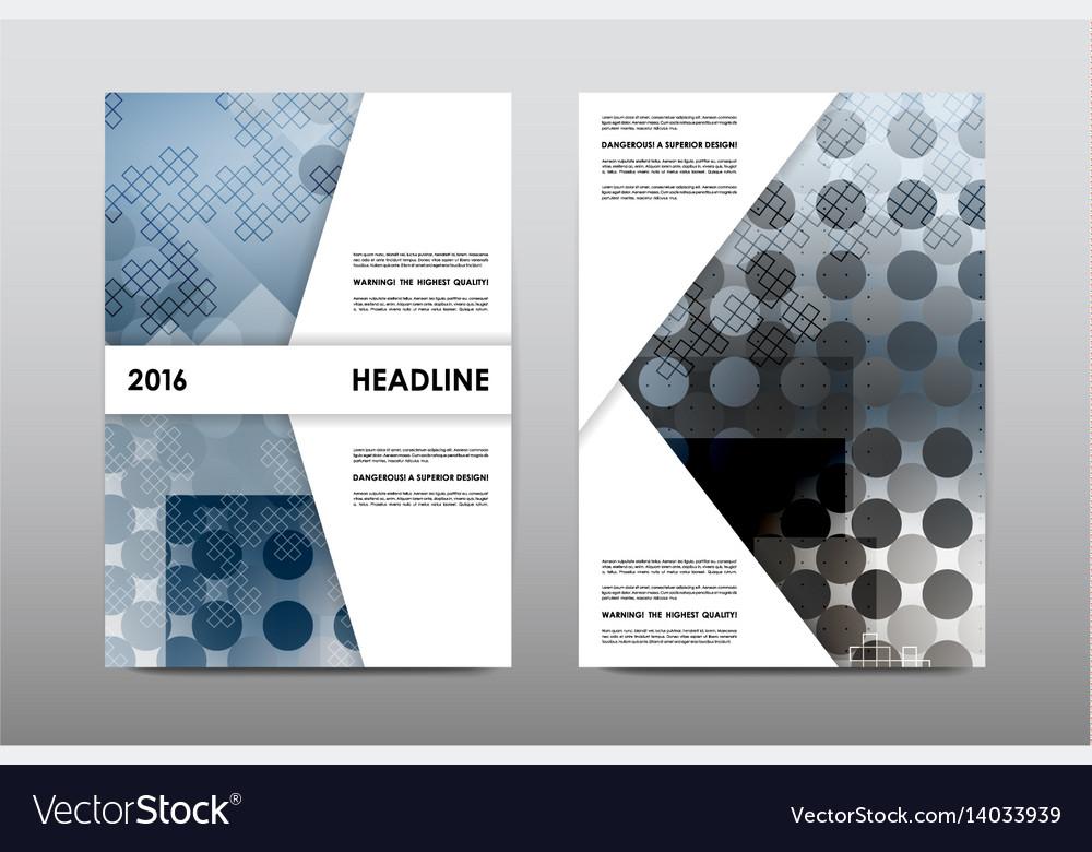 Brochure layout template flyer design