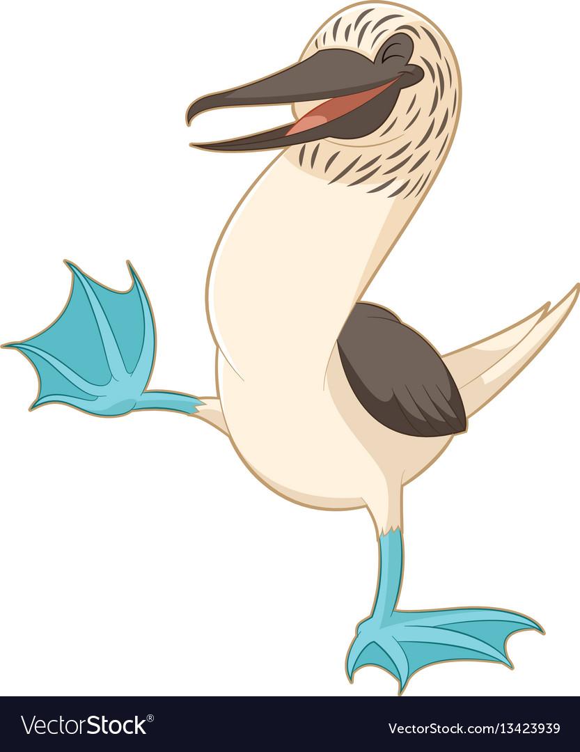 Cartoon happy booby