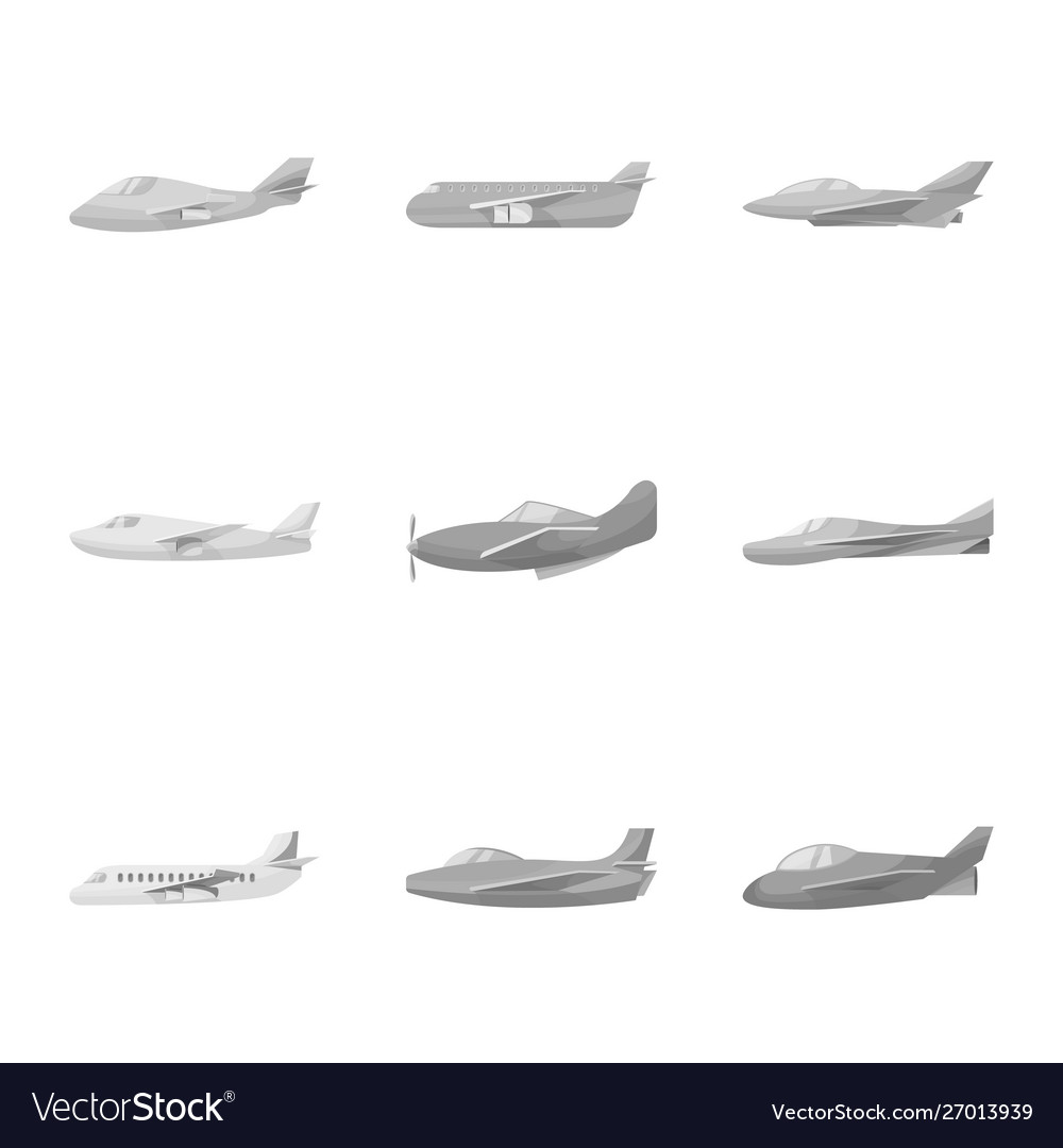 Design aviation and airline logo set of